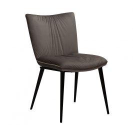 DAN-FORM Šedá sametová jídelní židle DanForm Join
