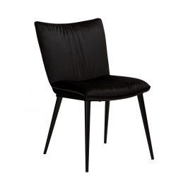 DAN-FORM Černá sametová jídelní židle DanForm Join