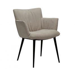DAN-FORM Béžová čalouněná jídelní židle DanForm Join s područkami