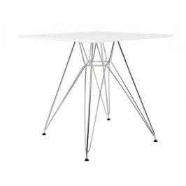 Culty Gold Bílý designový jídelní stůl DSR 80 x 80 cm