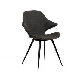 DAN-FORM Šedá čalouněná jídelní židle DanForm Karma