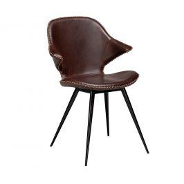 DAN-FORM Tmavě hnědá kožená jídelní židle DanForm Karma
