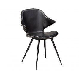 DAN-FORM Černá kožená jídelní židle DanForm Karma