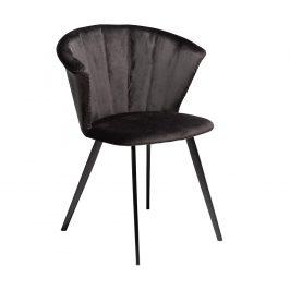 DAN-FORM Černá sametová jídelní židle DanForm Merge