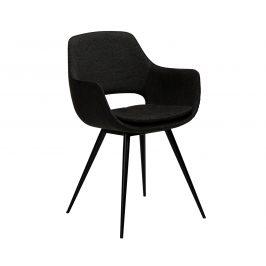 DAN-FORM Černá čalouněná jídelní židle DanForm Ohh