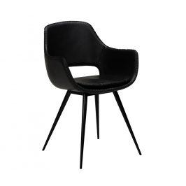 DAN-FORM Černá kožená jídelní židle DanForm Ohh
