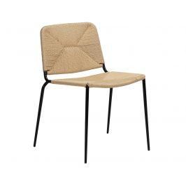 DAN-FORM Přírodní ratanová jídelní židle DanForm Stiletto