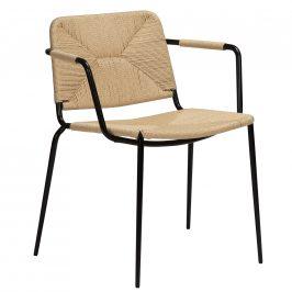 DAN-FORM Přírodní ratanová jídelní židle DanForm Stiletto s područkami