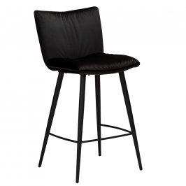 DAN-FORM Černá sametová barová židle DanForm Join 93 cm