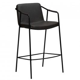 DAN-FORM Šedá kožená barová židle DanForm Boto 95 cm