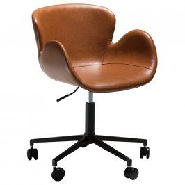 DAN-FORM Hnědá kožená kancelářská židle DanForm Gaia