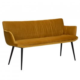 DAN-FORM Žlutá sametová lavice DanForm Join 152 cm