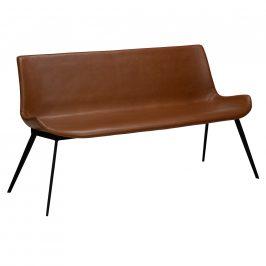 DAN-FORM Hnědá kožená lavice DanForm Hype 152 cm