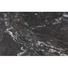 Hoorns Černý mramorový toaletní stolek Mell 90 x 30 cm