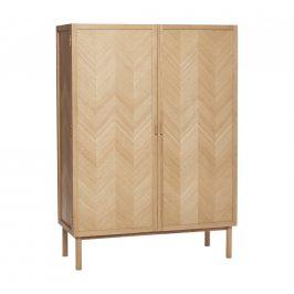 Přírodní dubová skříň Hübsch Herringbone 100x42 cm