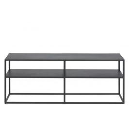 SCANDI Černý kovový TV stolek Renna 120x46 cm