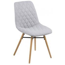 SCANDI Šedá látková jídelní židle Filip