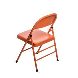 Culty Oranžová kovová skládací židle Frosty