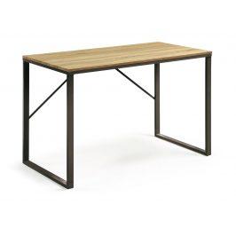 Přírodní dřevěný pracovní stůl LaForma Talbot 120x60 cm