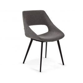 Tmavě šedá čalouněná jídelní židle LaForma Hest Židle do kuchyně