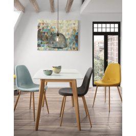 Žlutá látková jídelní židle LaForma Lissy
