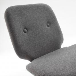 Šedá čalouněná jídelní židle LaForma Stem