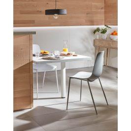 Bílá plastová jídelní židle LaForma Wassu