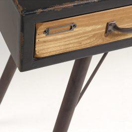 Černý dřevěný toaletní stolek LaForma Free 120 x 40 cm