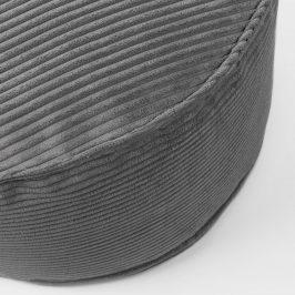 Šedý manšestrový puf LaForma Wilma 60 cm