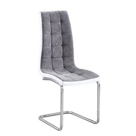 Moebel Living Šedá látková jídelní židle Alix Židle do kuchyně