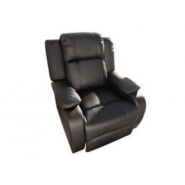 Moebel Living Černé koženkové relaxační křeslo Renzo