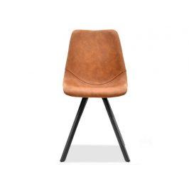 Design Project Hnědá koženková jídelní židle Byrne