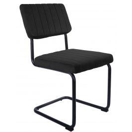 Time for home Černá sametová jídelní židle Cornelia Židle do kuchyně