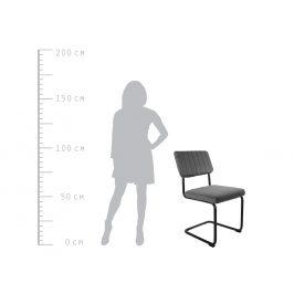 Time for home Zelená sametová jídelní židle Cornelia
