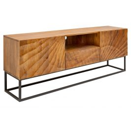Moebel Living Přírodní masivní televizní stolek Remus 160x40 cm Stolky pod TV
