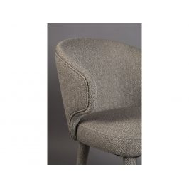Béžová látková jídelní židle DUTCHBONE Lunar