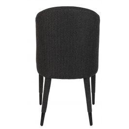 Černá látková jídelní židle DUTCHBONE Burton