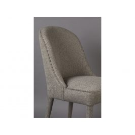 Béžová látková jídelní židle DUTCHBONE Burton