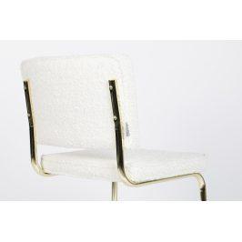 Bílá látková jídelní židle ZUIVER TEDDY