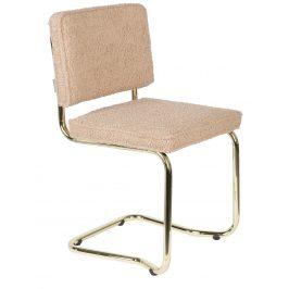 Růžová látková jídelní židle ZUIVER TEDDY KINK