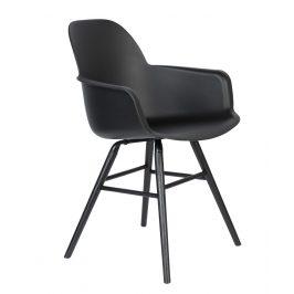 Černá jídelní židle ZUIVER ALBERT KUIP ALL BLACK s područkami Židle do kuchyně