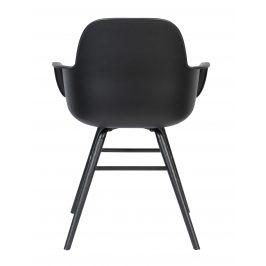 Černá jídelní židle ZUIVER ALBERT KUIP ALL BLACK s područkami