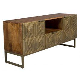 Zlatý mangový TV stolek DUTCHBONE VOLAN 135 x 40 cm Stolky pod TV