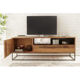 Moebel Living Masivní akátový televizní stolek Daisy 165 x 40 cm