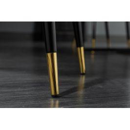 Moebel Living Hořčicově žlutá sametová jídelní židle Pierre