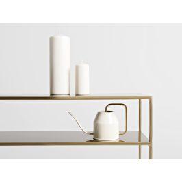 Nordic Design Zlatý kovový toaletní stolek Moreno 120 cm x 25 cm