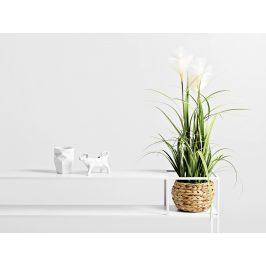 Nordic Design Bílý kovový toaletní stolek Moreno 120 cm x 25 cm