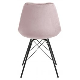 SCANDI Světle růžová sametová jídelní židle Erisa