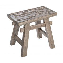 Moebel Living Šedá dřevěná stolička Rhodos Židle do kuchyně