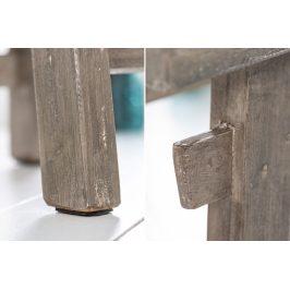 Moebel Living Šedá dřevěná stolička Rhodos